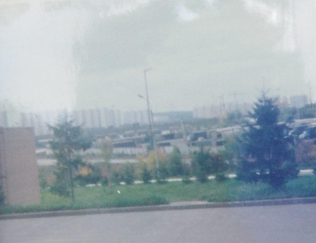 Na parkingu našeg hotela, 40 km od centra Moskve